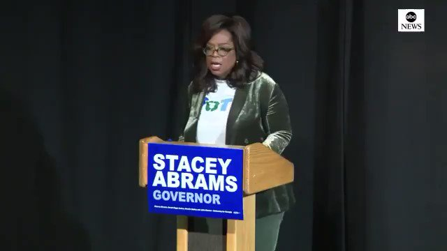 """Oprah: """"For anybody here who has an ancestor who didn't have the right to vote and you are choosing not to vote, wherever you are ... You are dishonoring your family. You are disrespecting and disregarding their legacy, their suffering and their dreams."""" (via ABC)"""