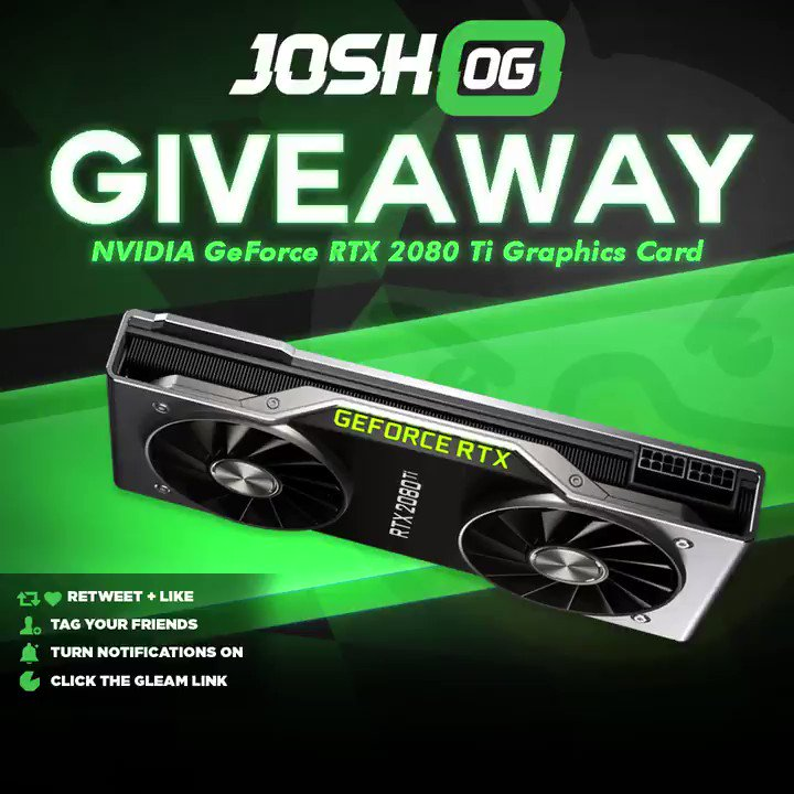 You thought last months giveaway was fire...?! Nah. November we going even BIGGER! GET ALL THE FRAMES!  🎉 NVIDIA GeForce RTX 2080 Ti 👋 Tag Your Friends 💞 Retweet, Like & Follow @JoshOG 🖱️ Click Here To Enter: http://vast.link/JOGNGA