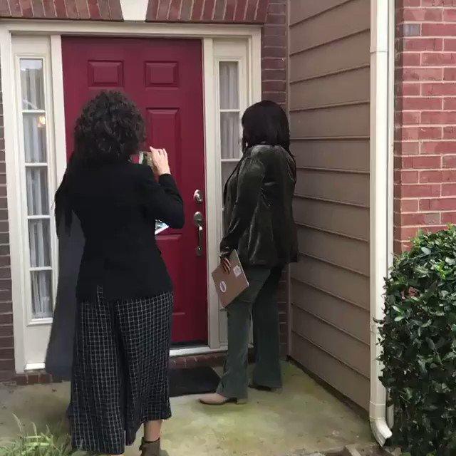 . @Oprah knocking on doors for @staceyabrams