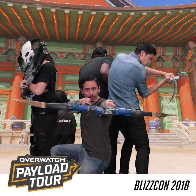 Any last words? @robotarm_ @gogogajman @diepspace @unclefuz @playoverwatch on the #OWPayloadTour at #BlizzCon.