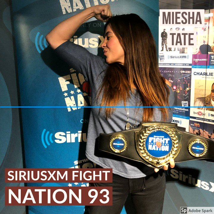 Her actions are speaking louder than her words. Shes not able to make the weight. I think she should probably go up to 135. I like Sijara - I like her as a person and as a fighter. -- @MieshaTate to @RyanMcKinnell on Sijara Eubanks missing weight for tonights fight