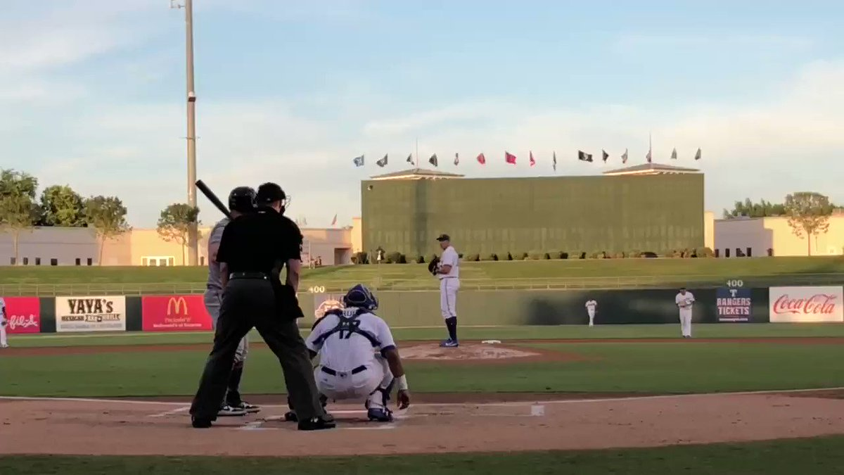 Blue Jays prospect Nate Pearson threw a 103-mph heater. Mets prospect Peter Alonzo hit it over the CF fence ��  https://t.co/YawYROfCU5