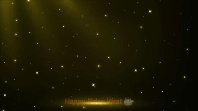 Happy Birthday to the Run Machine Virat Kohli ji...