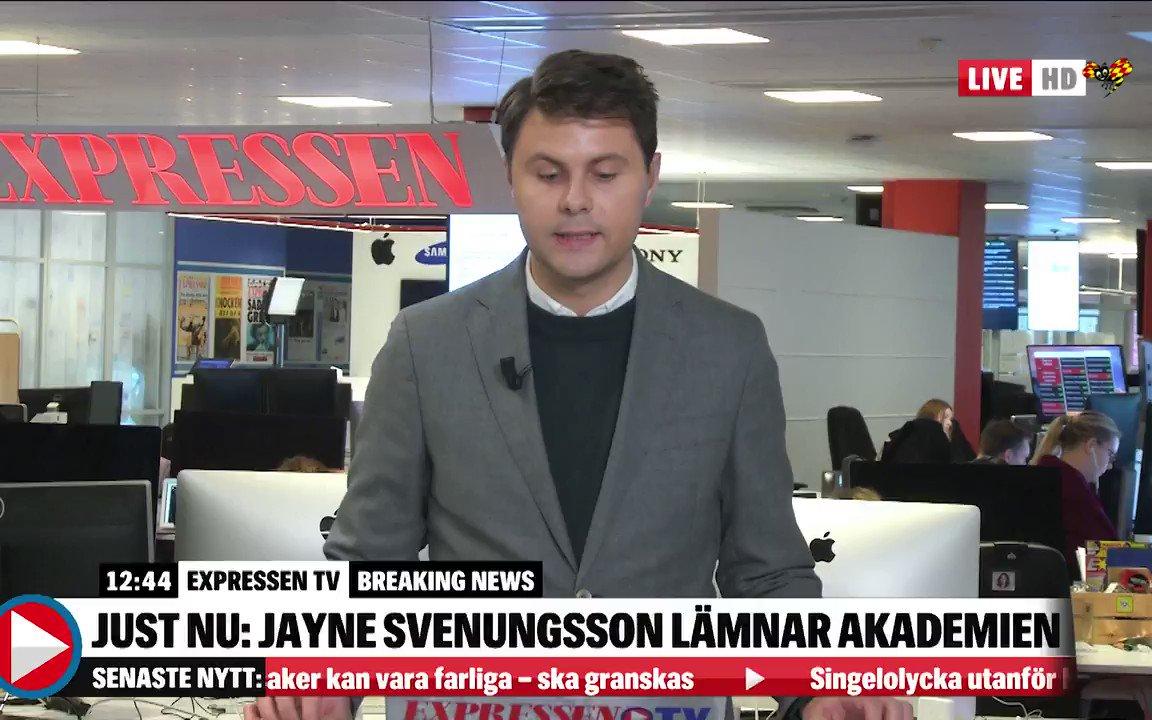 Jayne svenungsson lamnar akademien
