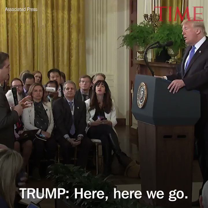 President Trump clashes with CNN's Jim Acosta, other journalists at fiery press conference https://t.co/U0lNgzMHwk