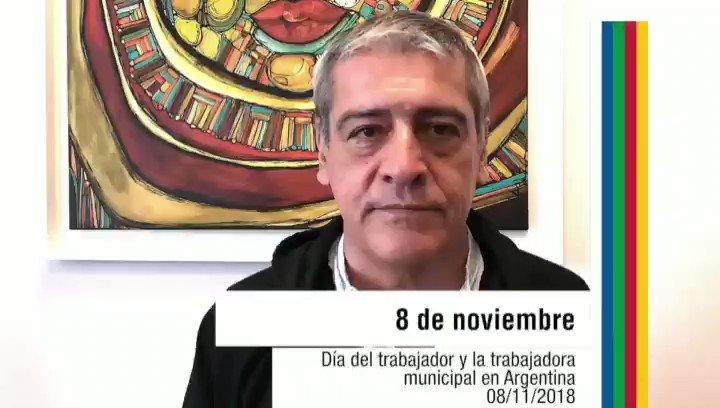Día Del Trabajador Municipal! El Presidente #CLATE y Sec.  Adj #ATE Nac. Julio Fuentes saluda a los cros por día El 8 de Nov es el Día del Trabajador Municipal, en virtud de que ese día en 1959 se constituyó la Confederación de Obreros y Empleados Municipales de Argentina (COEMA)