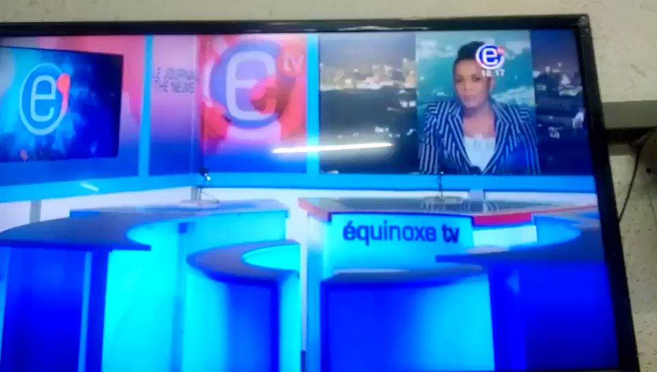 Pas d'informations au journal de 18H sur @EquinoxeTv_cm ce soir en signe de solidarité à l'incarceration de la journaliste @Mimimefo237  #WeStandForMimi #FreeMimiMefo #journalismisnotacrime