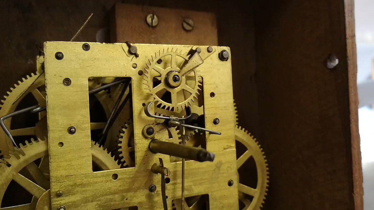 Offered to look at someones old clockwork clock today and ended up making a complete new escapement for it. Very pleased that it then actually worked! #Clockwork #clock #Steampunk #notnixie #Maker #repairs Not my normal type of work in the clock world, but very satisfying :)