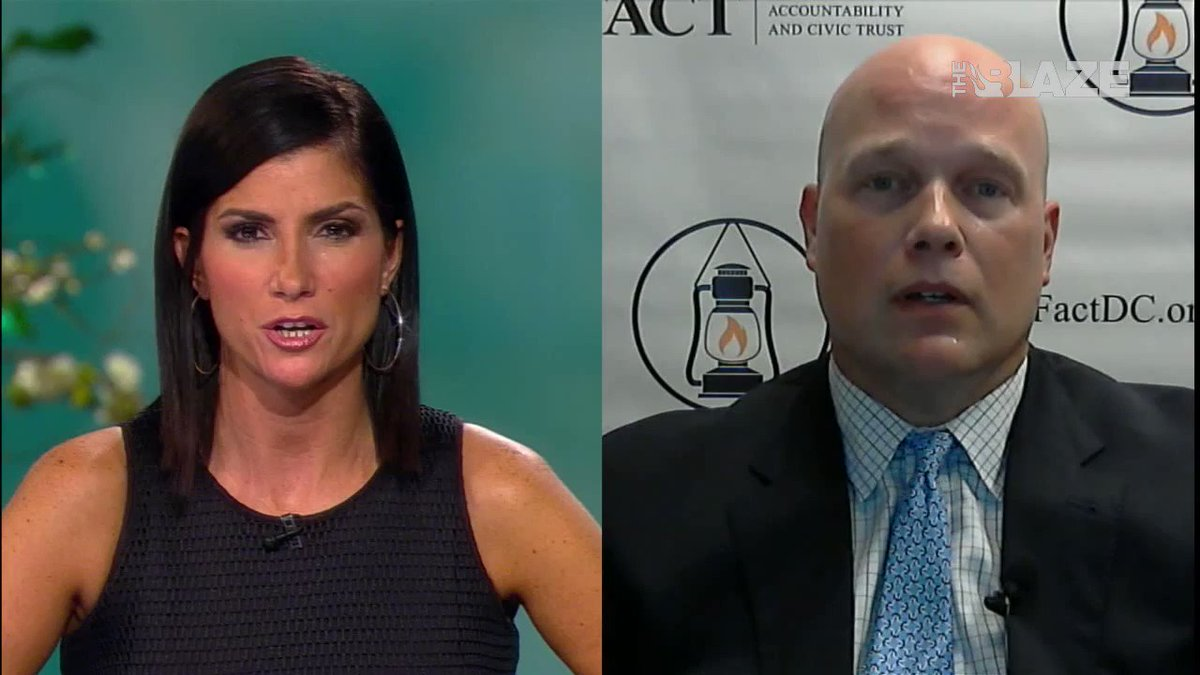 NEW: Heres Matthew Whitaker doing an interview with Dana Loesch, promoting several conspiracy theories about Hillary Clinton including Benghazi, her emails and the Clinton Foundation. We have an acting Attorney General who wears a tinfoil hat. #WhitakerMustRecuse #ProtectMueller