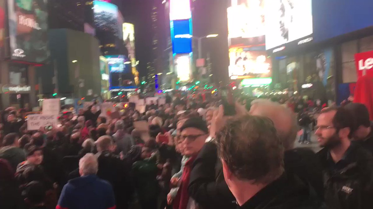We're on the march now - Times Square to Union Square. #ProtectMueller
