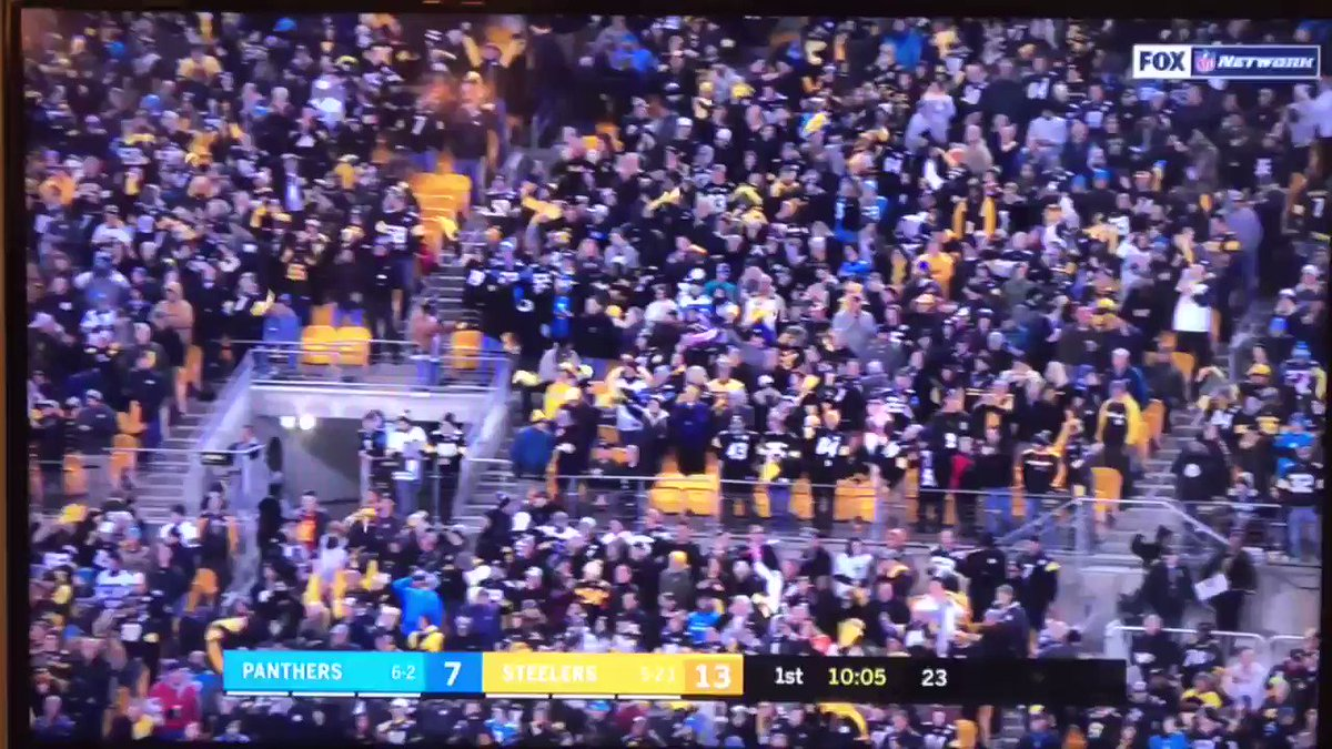 RT @SomeonesAnIdiot: Camera guy wasn't ready for the Steeler onslaught #CARvsPIT https://t.co/Oi57HuO9NX