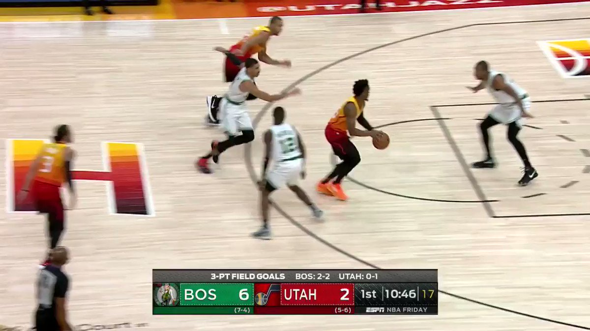 Gordon Hayward gets on the board in Utah!  #TeamIsEverything 10 #CUsRise 10  ��: ESPNews https://t.co/30QAXjtVGa
