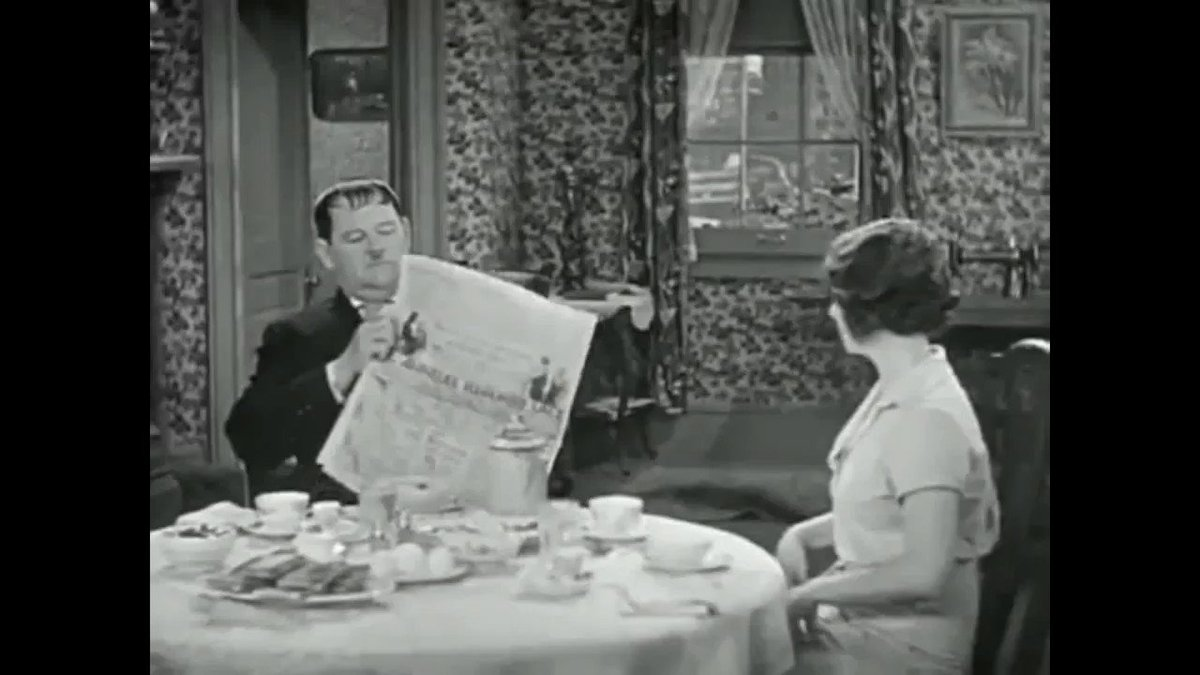 That was me on the phone. #LaurelAndHardy