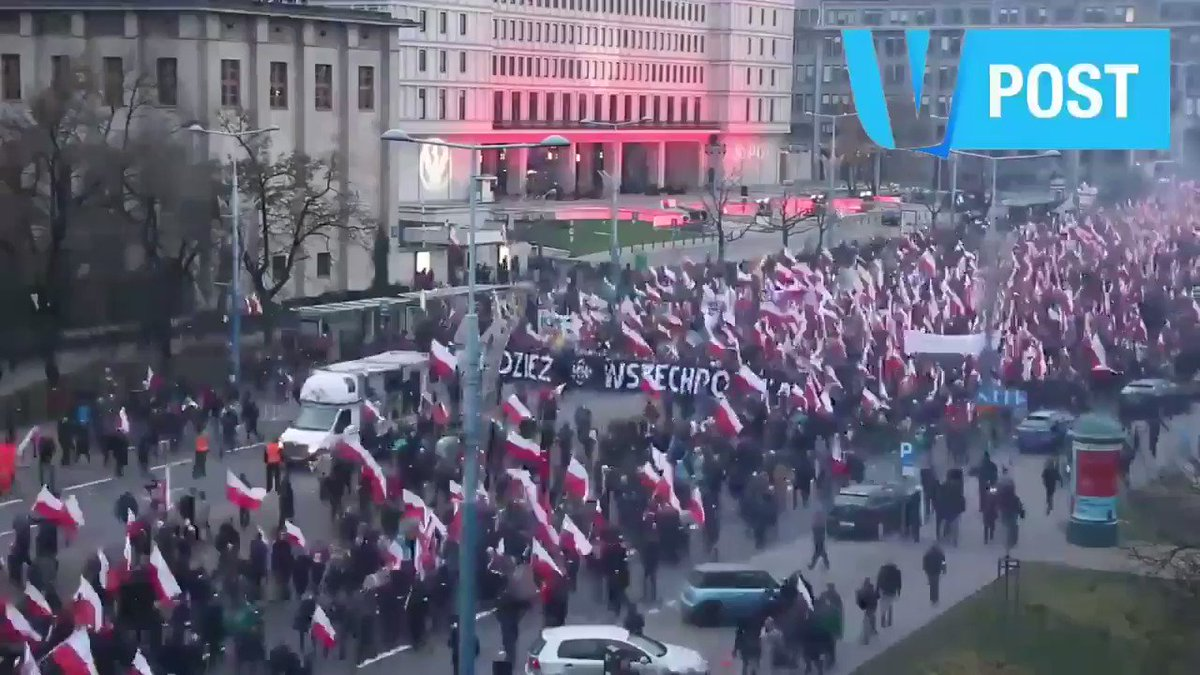 This is what Poland looks like tomorrow! While mainstream media call them extremists, we call them people who love their country!