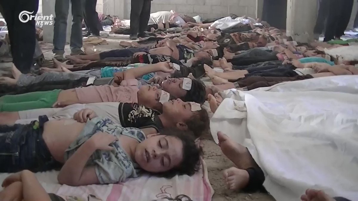 #LestWeForget The #Nazis invented Sarin nerve gas but didnt use it against advancing enemy armies. #Assad used it against families with the help of #Russia & #Iran and the silence of the world. Over 200 chemical attacks carried out by #Assad regime since December 2012. #Syria