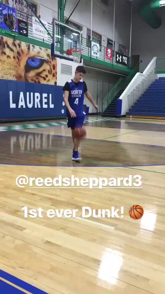 Rex Chapman On Twitter Jeff Sheppard And Stacey Reed S Son Reed Sheppard First Dunk 8th Grader 6 0 Look Out Yall