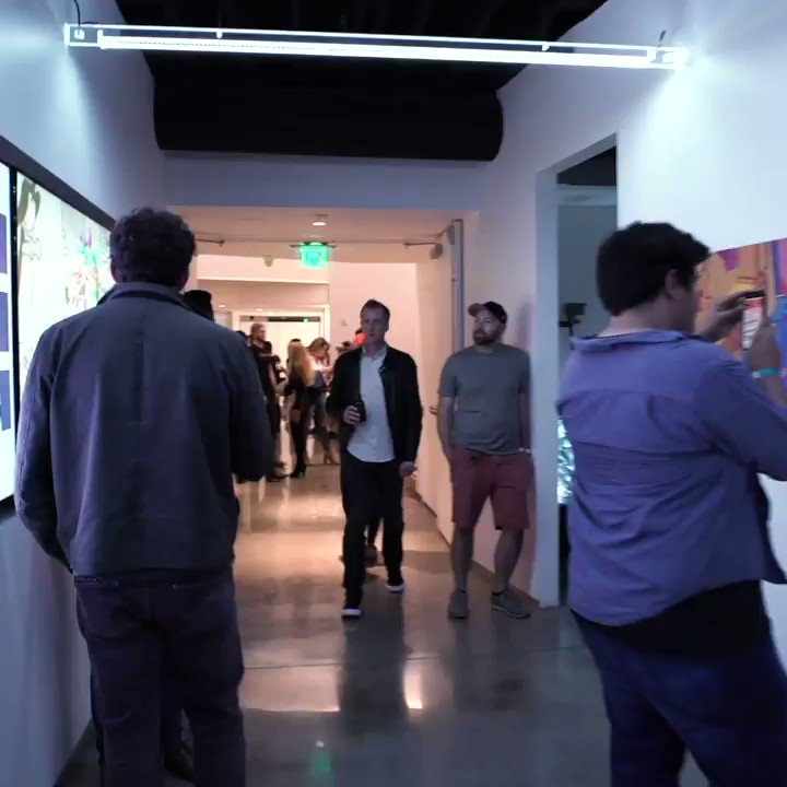 Thanks to everyone who came out to the VRScout Art Show. A packed night of VR, AR, art and music w/ @TiltBrush @CyberpowerPC