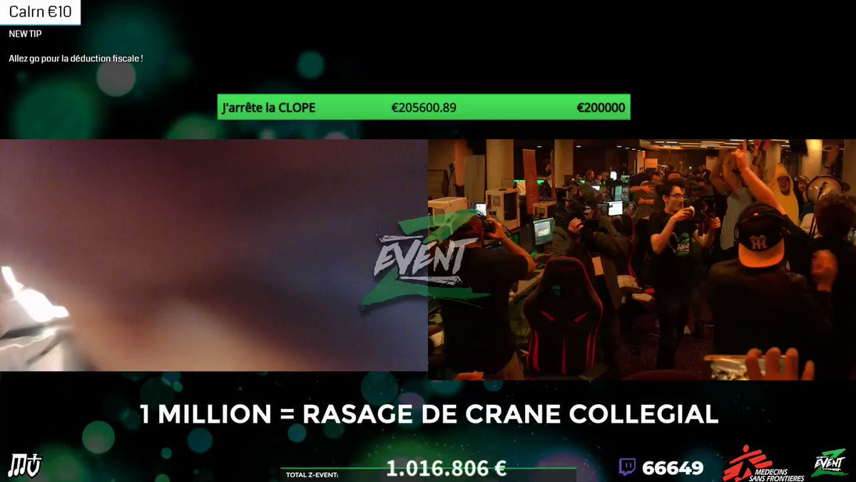 RT @Kawailly: Le meilleur moment du Twitch Game FR ever ! 💚 Bravo pour le million @ZeratoRSC2 @tpdach #ZEVENT2018 💚 https://t.co/6w4DzUnCrN