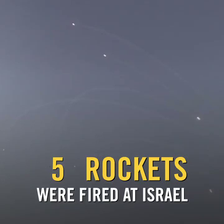 More than one rocket per minute has been fired from Gaza at Israel over the course of two hours. Let that sink in. https://t.co/UEJyKQaQar