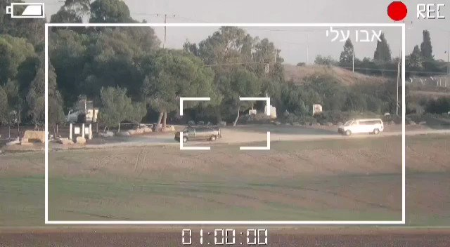Footage released by Hamas showing an alleged ATGM strike on a bus inside #Israel.