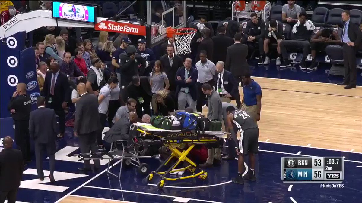 Nets' rising star Caris LeVert suffers gruesome leg injury, taken off court on stretcher