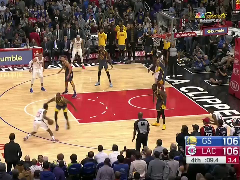 Tensions ran high between KD and Draymond after going into OT with the Clippers. https://t.co/J1EX86uNSz