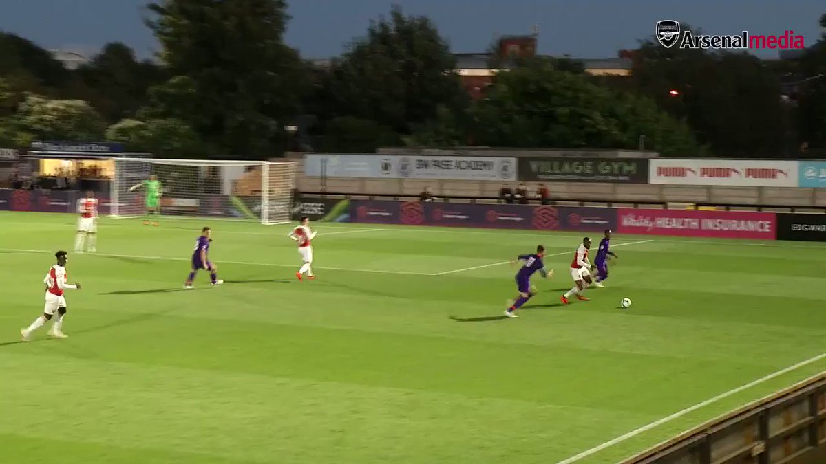 Bukayo's scored 4️⃣ goals and assisted 7️⃣ times for us this season 🔥  Here's how the 17-year-old opened his account for #AFCU23 against @LFC 👀