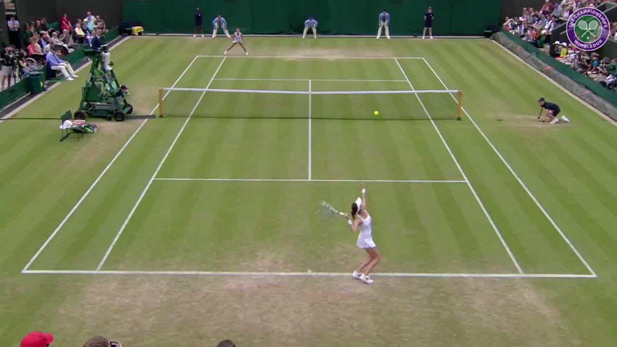 No matter where she was on court, you were never safe from an @ARadwanska drop shot... #Wimbledon