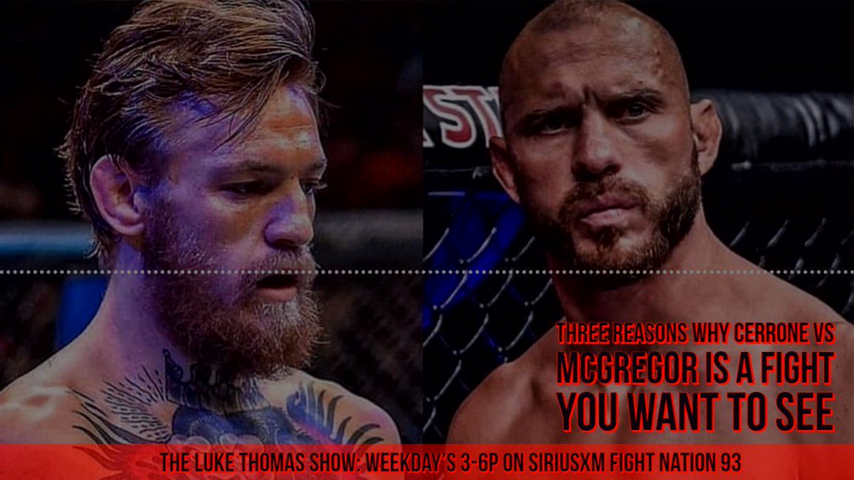 .@lthomasnews: Three reasons why Cerrone vs McGregor is a fight you want to see #TLTS