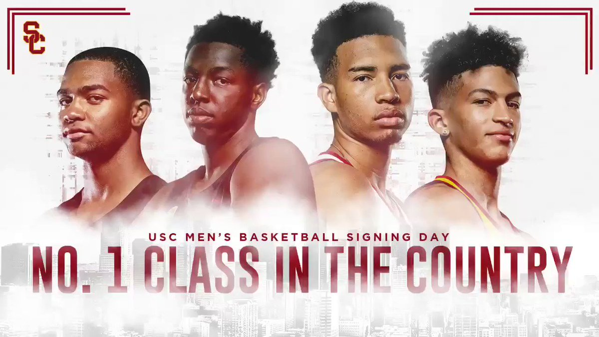 Congratulations to @USC_Hoops on signing the No. 1 recruiting class in the nation for 2019! #FightOn