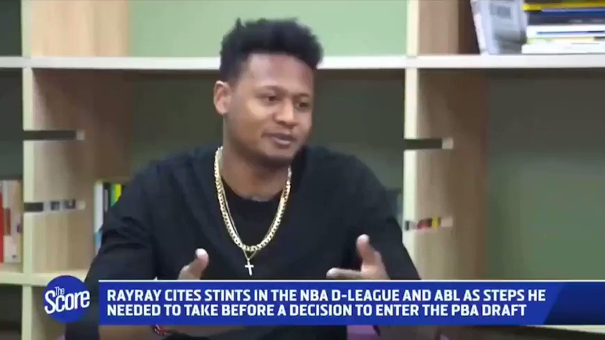 """What's his big advantage over other rookies entering the PBA Draft? @ray1parks: """"I'm not a rookie."""""""