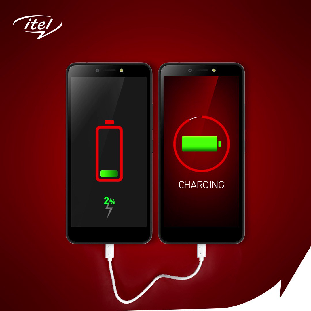With itel's new smartphone, say goodbye to power banks because its mAha battery is going to last really long! #itelcelebrates4cr