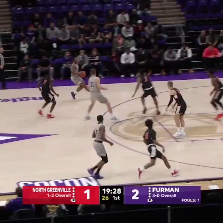 Furmans Jordan Lyons ties the NCAA record with 15 3-POINTERS!