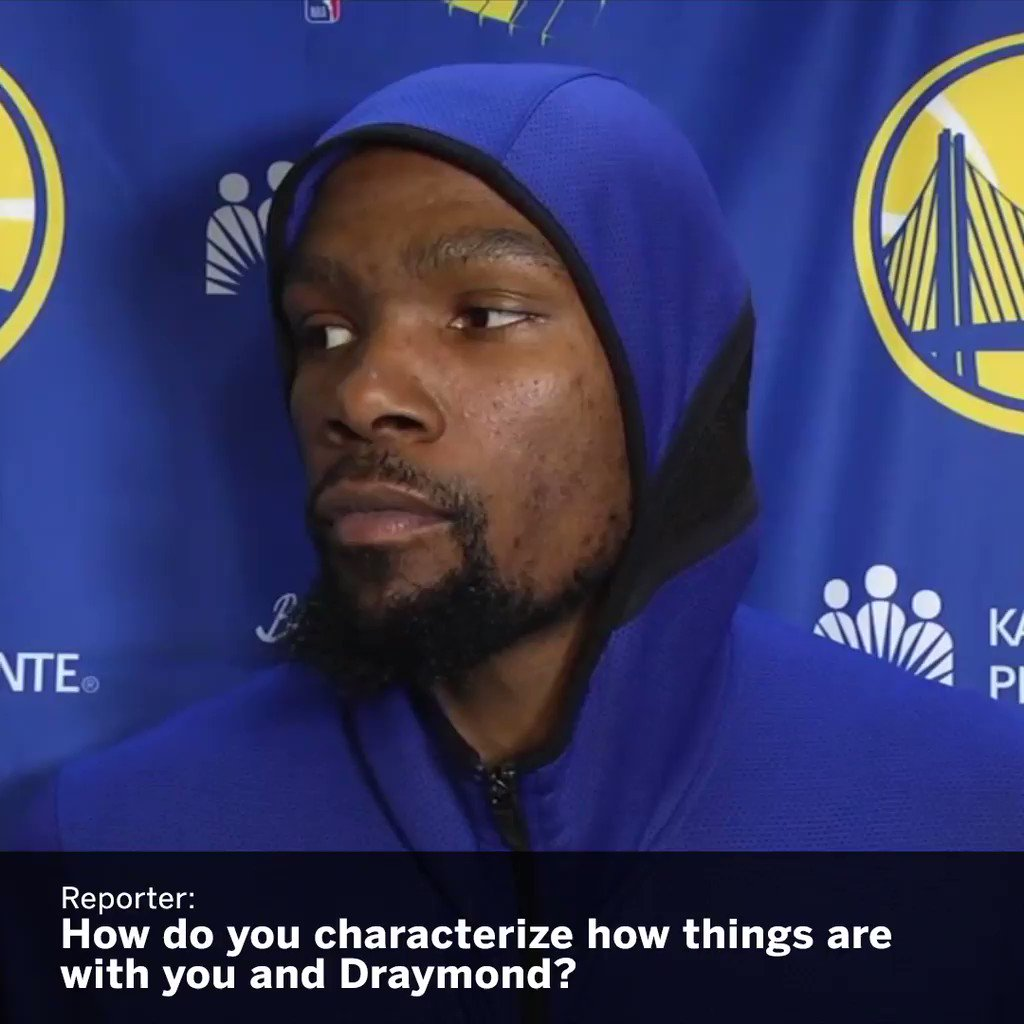 KD is done with Draymond questions �� https://t.co/XRl8qzV2wo
