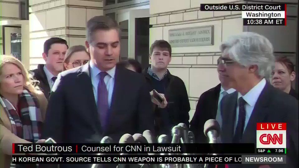 .@acosta thanks colleagues, judge for support, restoring press pass. https://t.co/EWuPNZo3El