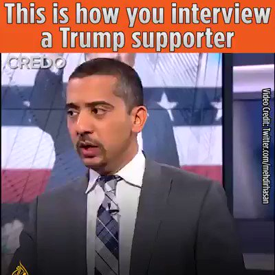 This is how you interview a tRump supporter. #ShutItDown! 💥 #tRumpLies