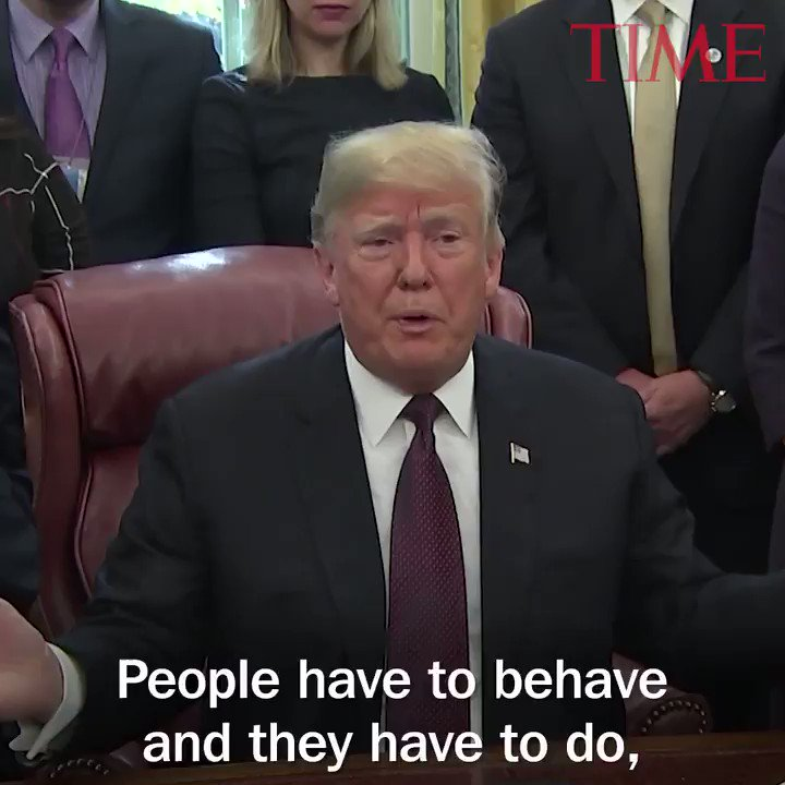 President Trump addresses Jim Acosta ruling: 'People have to behave' http://mag.time.com/4L0Xxr1