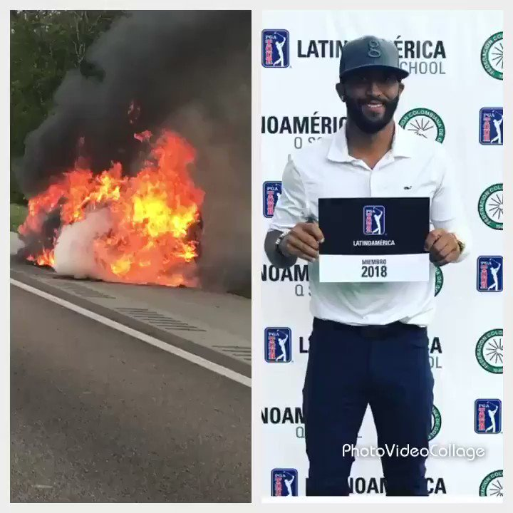 Pro golfer's car engulfed in flames on Central Florida highway, prompts others to call for help