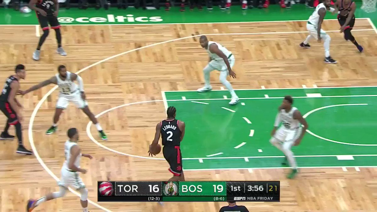 Kyrie gets the steal and spins it in on the other end! ����  #CUsRise 28 #WeTheNorth 23  WATCH on @ESPNNBA https://t.co/pyd4XccgMP