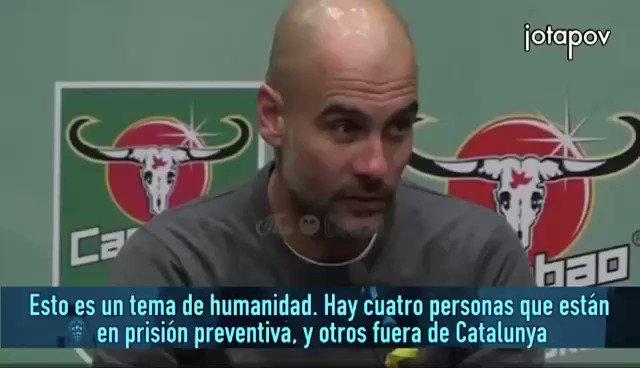 RT @JaumeAlonsoCuev: Guardiola parlant dels presos 👏👏👏 https://t.co/8klOjhYhdu