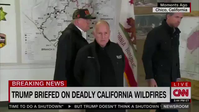 Trump is asked if the seeing the devastation from the California wildfires has changed his opinion on climate change. Trump: No. No. I have a strong opinion: I want great climate. (via CNN)