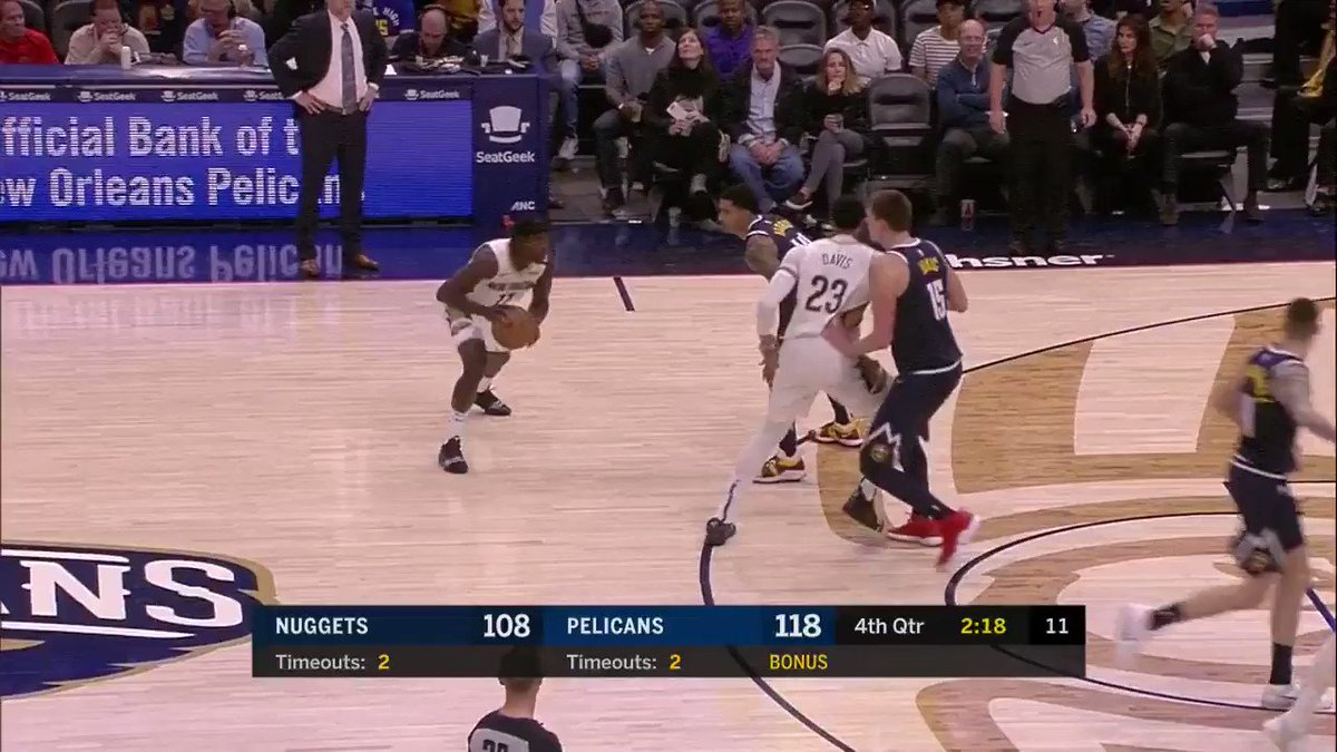 40 PTS, 8 AST, 8 REB for Anthony Davis! ��  #DoItBig 120 #MileHighBasketball 111 https://t.co/zOtChDR6Dt