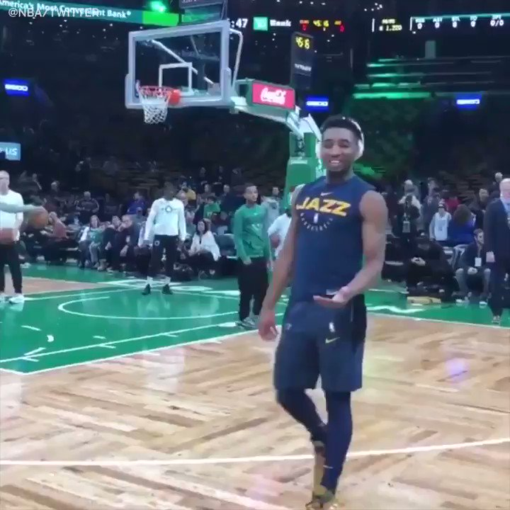 pretty nice 721a3 6f637 Donovan mitchell hung out with a fan who he spotted wearing ...