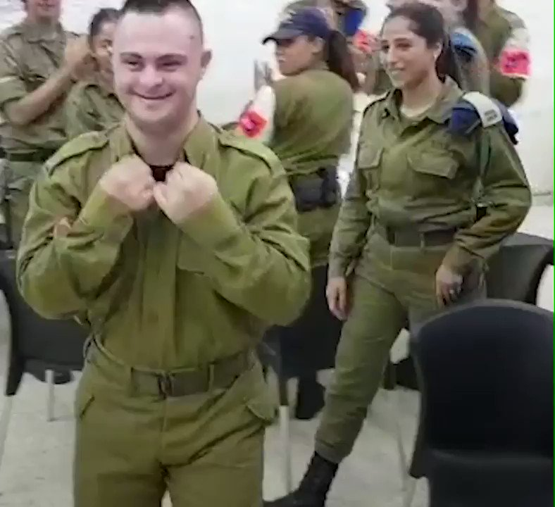 Pvt. Shahaf is a volunteer soldier in the IDF, this is his story: https://t.co/QcYn4ndYuu