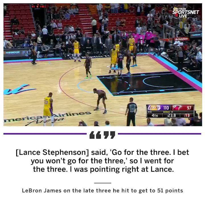 LeBron hit 51 points because of Lance Stephenson �� https://t.co/mGsSddE5gK