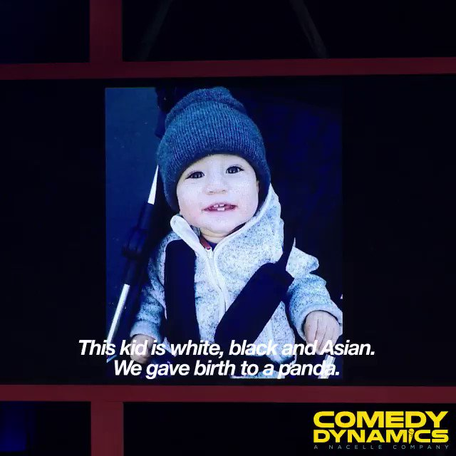 The CUTEST 🐼 ever seen!  Get ready for Michael Yo's #Blasian, out Nov. 27th! #YoBlasian Pre-order @MichaelYo's BLASIAN now! https://apple.co/2OPAQT7  . . . . . #MichaelYo #ComedyDynamics #StandUpComedy #Hilarious #Blasian #CantWait #LOL #Comedy #StandUp #😂