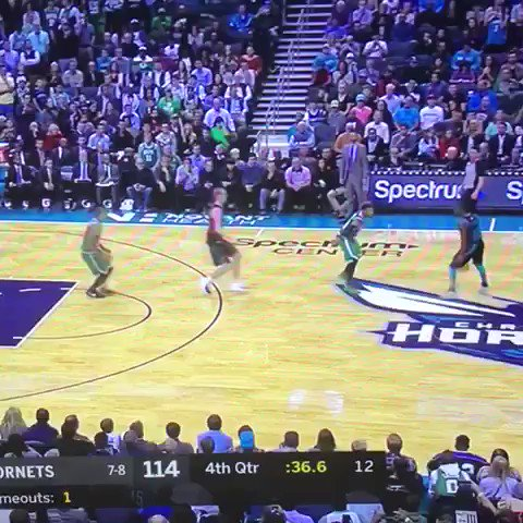 """THIS IS MY SHIT."" Kemba Walker dagger 3 for the win. GOODNIGHT."