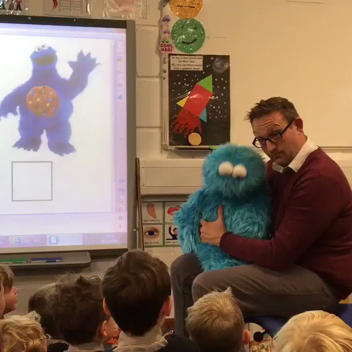 The Reception Classes had a visit from The Cookie Monster today! What a great way to learn about subtraction.
