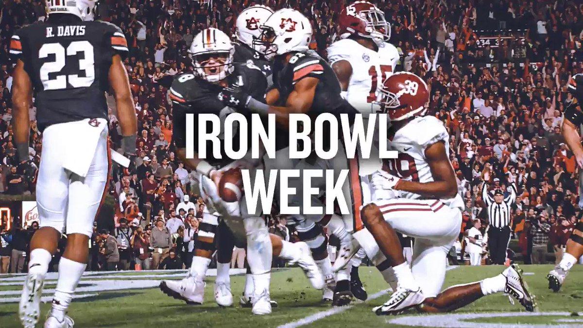 Iron Bowl Week  #WarEagle https://t.co/XX0iytxaus