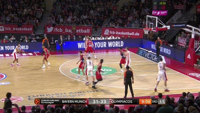 Ολυμπιακός: Το πρώτο τρίποντο του Μιλουτίνοβ στη EuroLeague! (VIDEO)